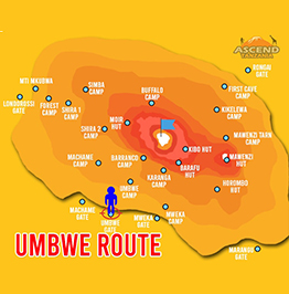 Umbwe Route Map