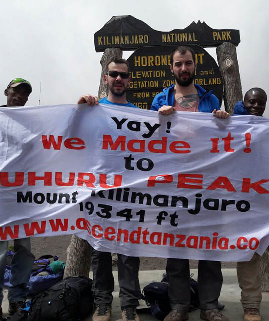 2 Trekkers are Successfully reach at uhuru peak by Ascend Tanzania